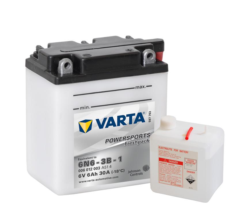 Batteri 6N6-3B-1 - 6Ah
