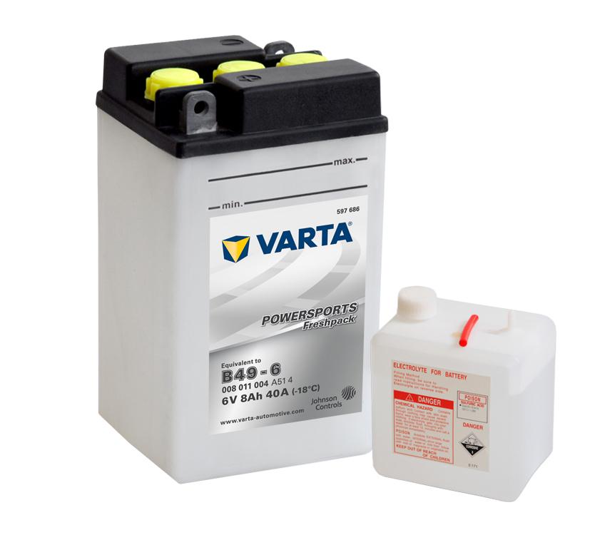 Batteri 6V B49-6 - 8Ah