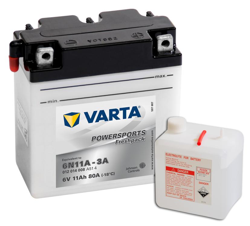 Batteri 6N11A-3A -12Ah