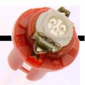 Instrumentlampa 12V högint - Röd
