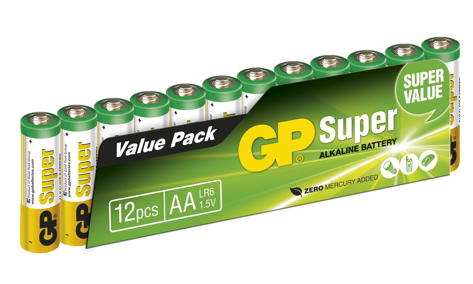 Super LR06 AA 12 Pack