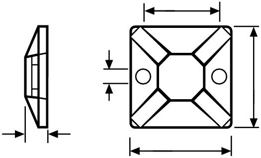 Monteringsplatta SolidTack - 100st