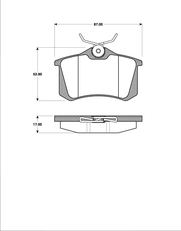 Bromsbelägg T5075