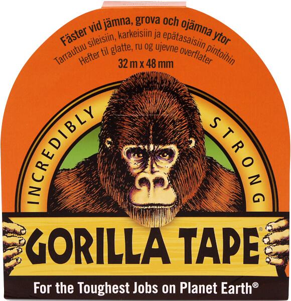 Gorillatape Svart 32mx48mm