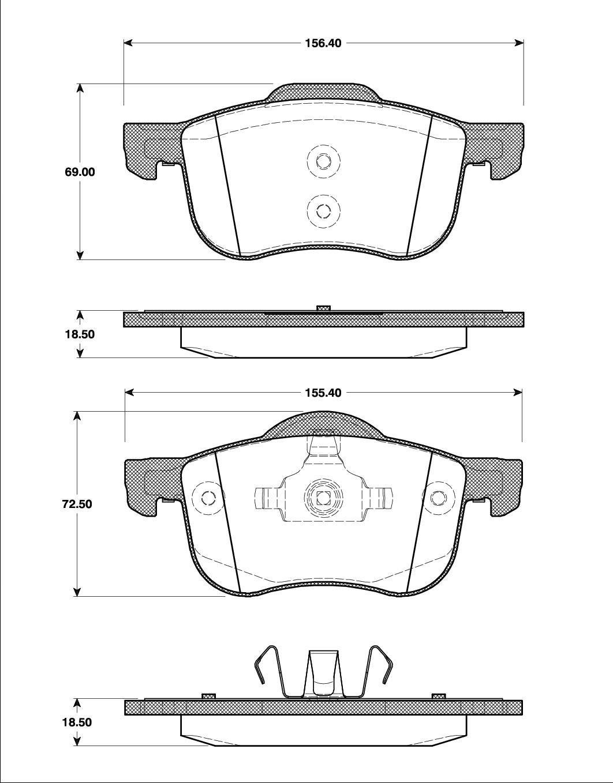 Bromsbelägg T1189
