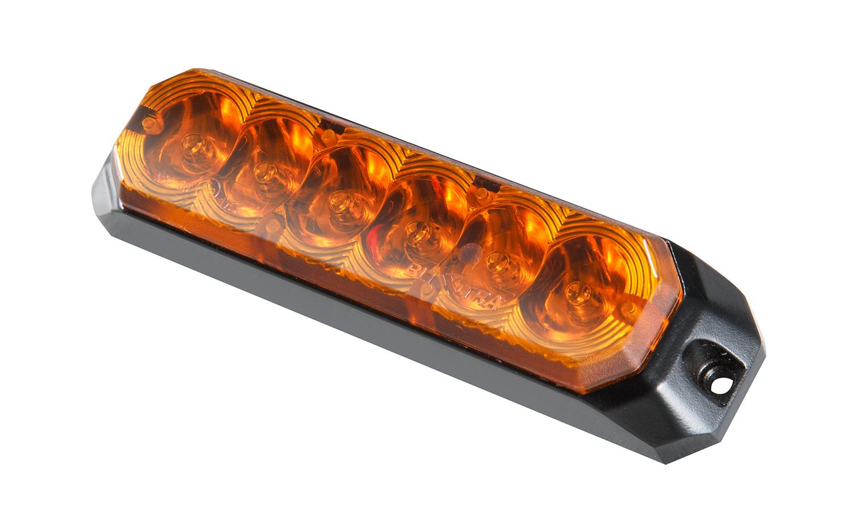 Blixtljus Orange LED med orange lins 128x31x21
