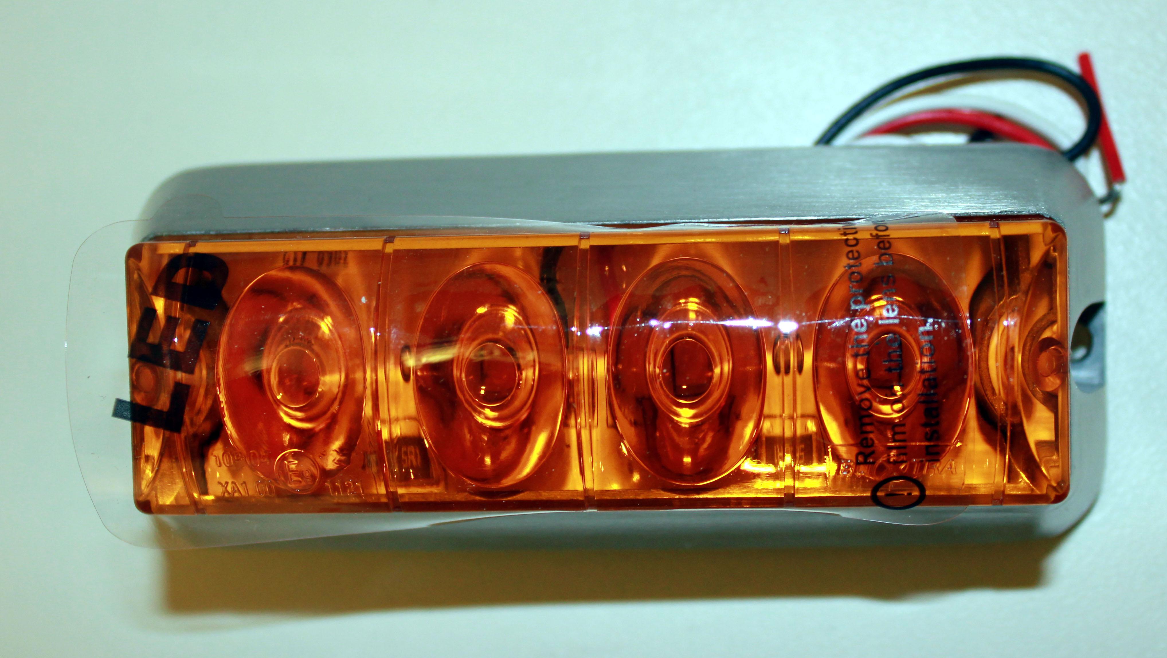 Varningsbelysning LED blixtljus - Gul