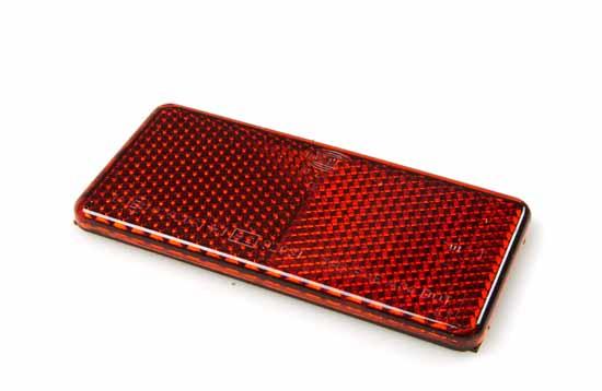 Reflex röd 94x44mm självhäftande