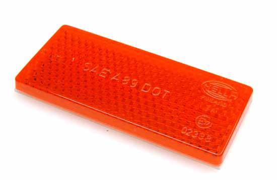 Reflex röd 70x32mm självhäftande