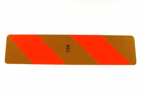 Reflexskylt-sats 566 x 132 x1mm för dragfordon