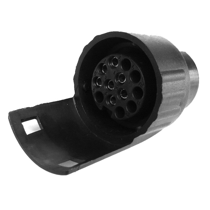 Adapter 7-13 pol inkl. kulskydd