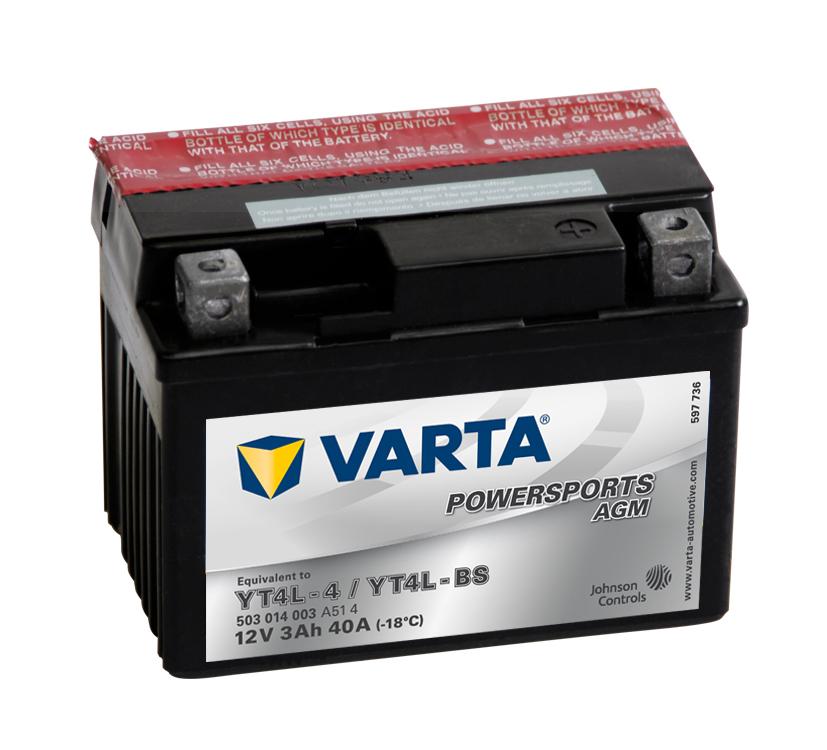 Batteri YT4L-BS - 3Ah