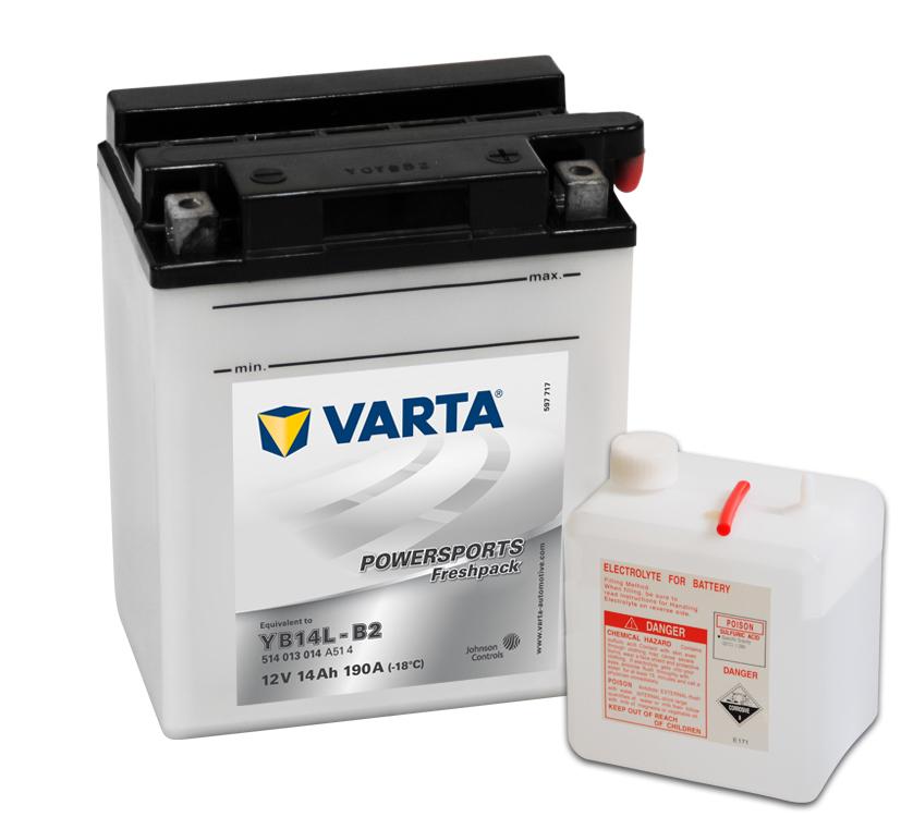 Batteri YB14L-B2 - 14Ah