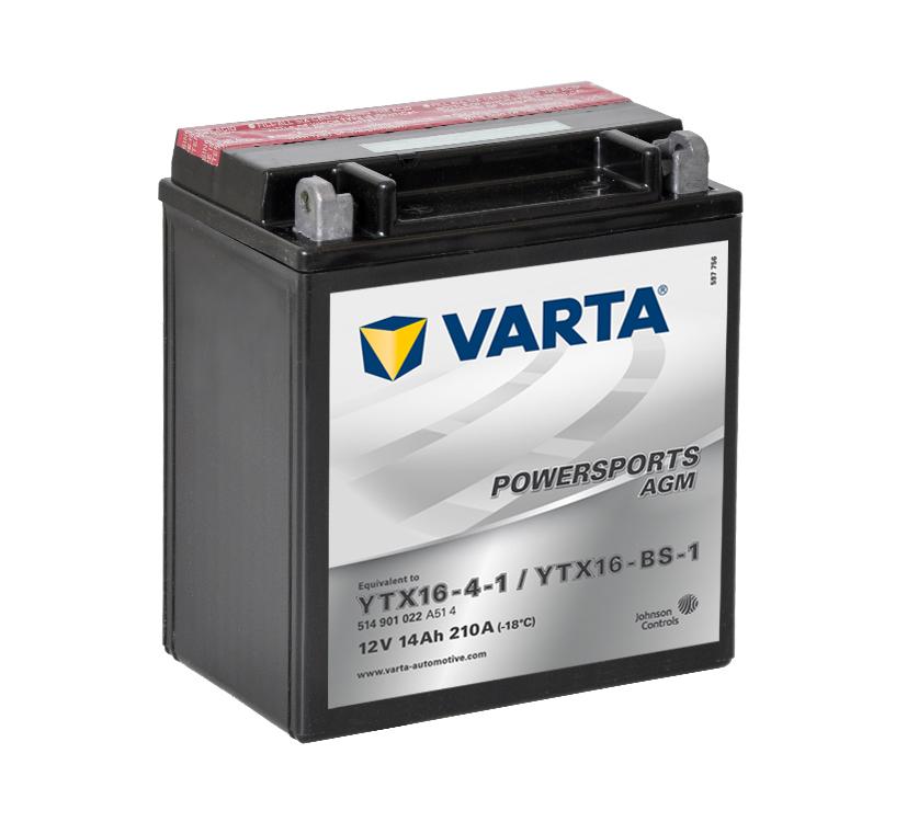 Batteri YTX16-BS-1 - 14Ah