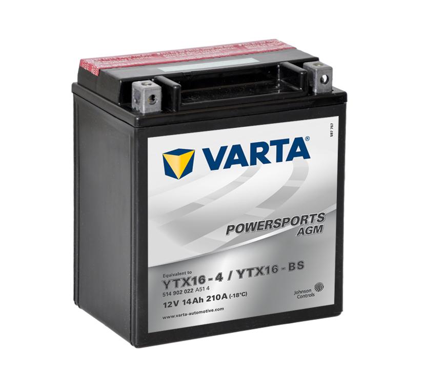 Batteri YTX-16BS - 14Ah