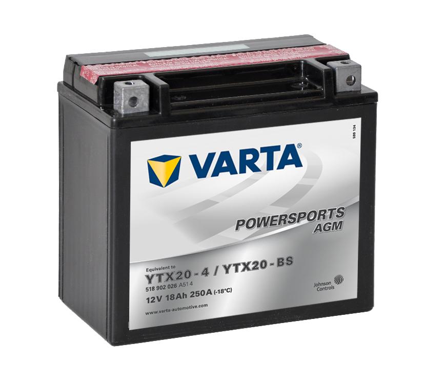 Batteri YTX20-BS - 18Ah