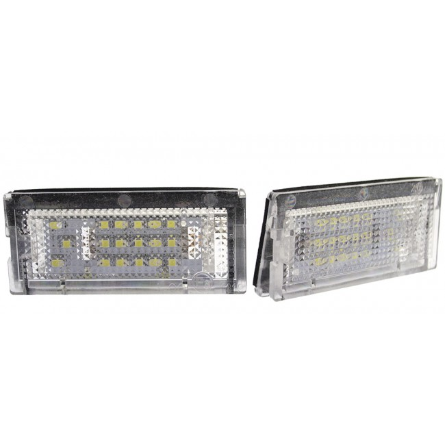 LED-skyltlykta till BMW E46 98-03 (4 & 5 dörrar, E-märkt, ett par)
