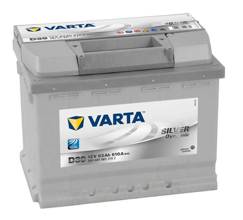 Bilbatteri Silver Dynamic D39 - 63Ah