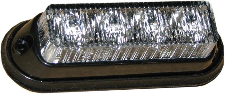 Blixtljus 122x41mm 4x LED klar glas - Orange