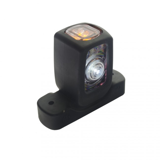 Gummiarm med positionsljus, rak, 12-24V