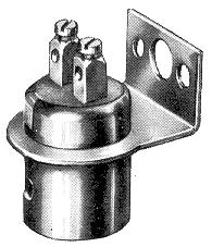 Lamphållare BA 15d 2-poler skruv