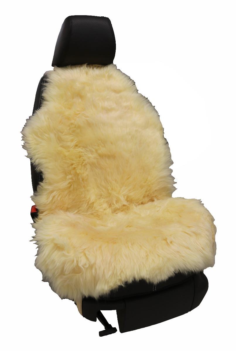 Bilklädsel äkta fårskinn - Beige