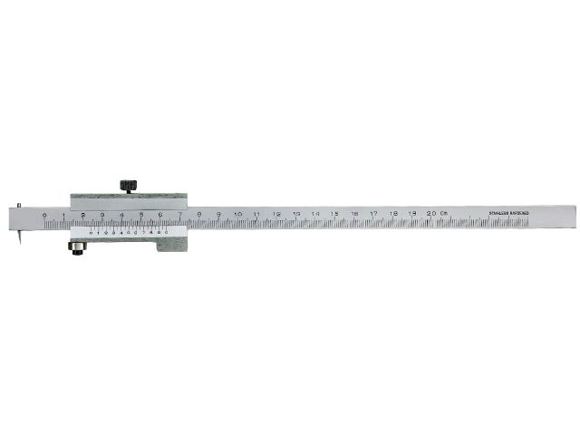 Rits-/Strykmått för metall - 200mm