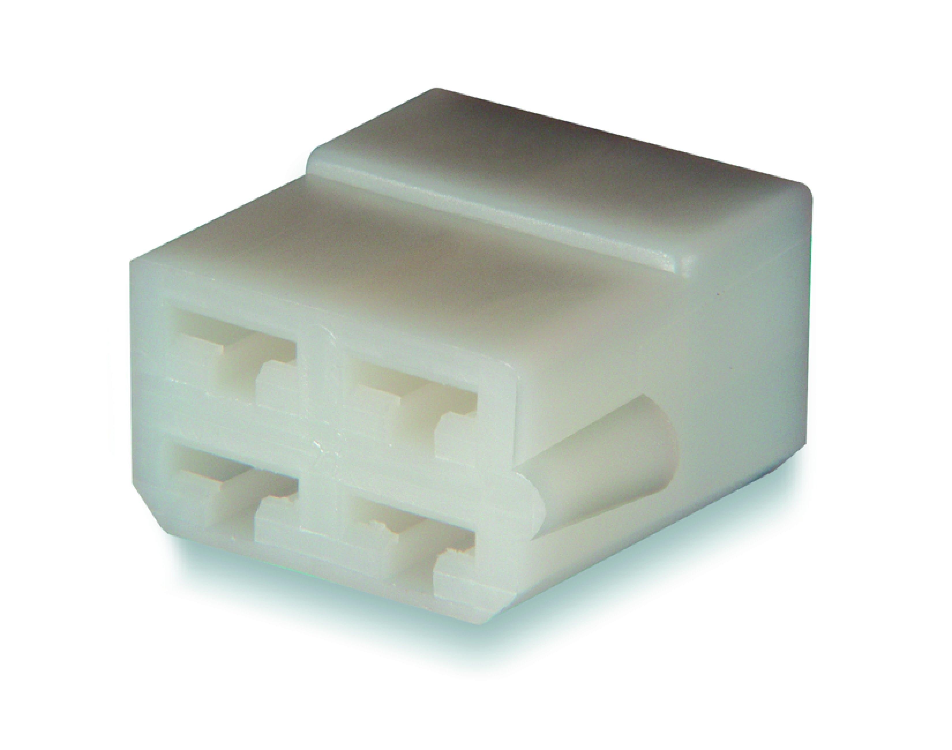 Hylsisolator 4-polig för flatstifthylsa 6,3 mm