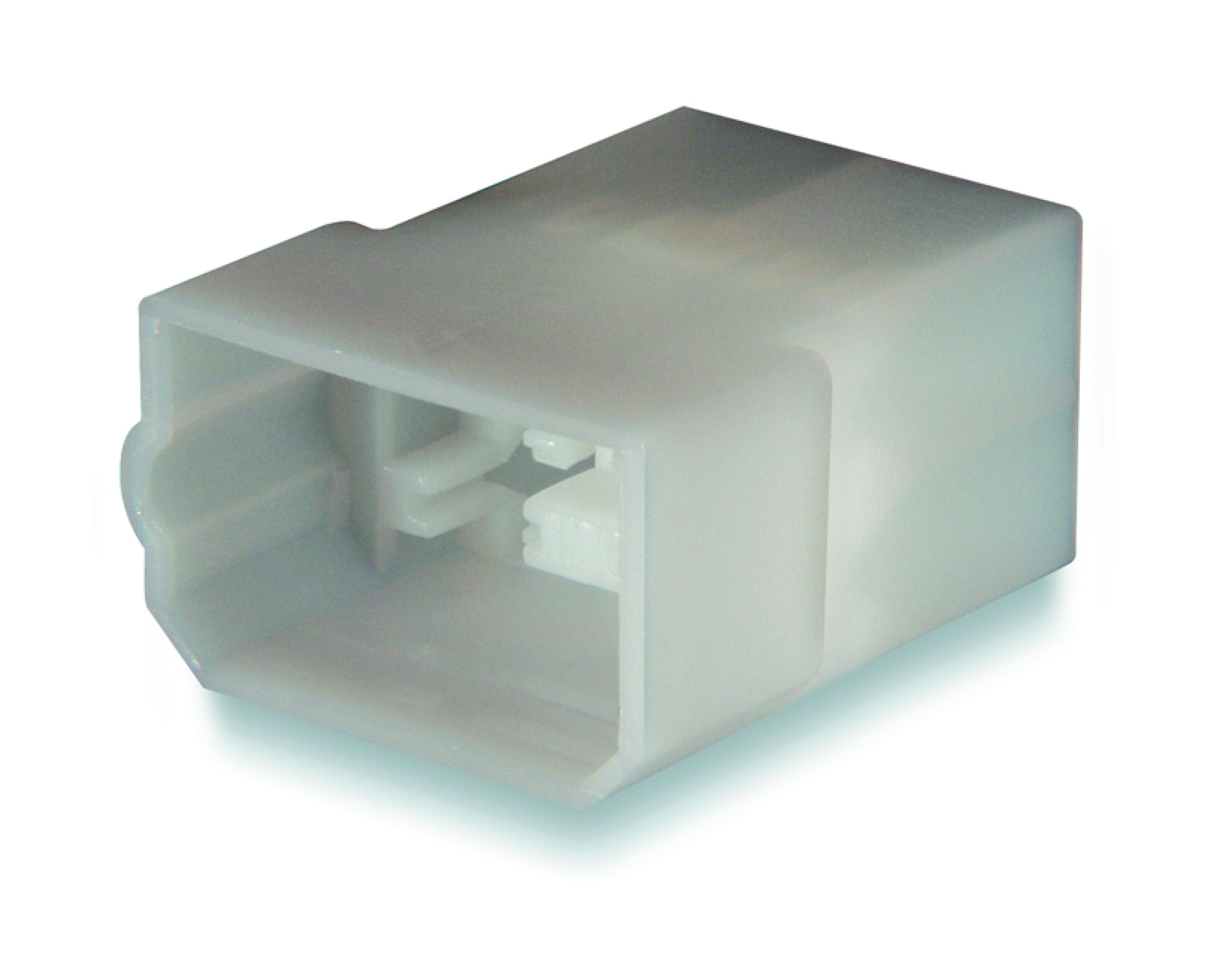 Stiftisolator 4-polig för flatstift 6,3mm