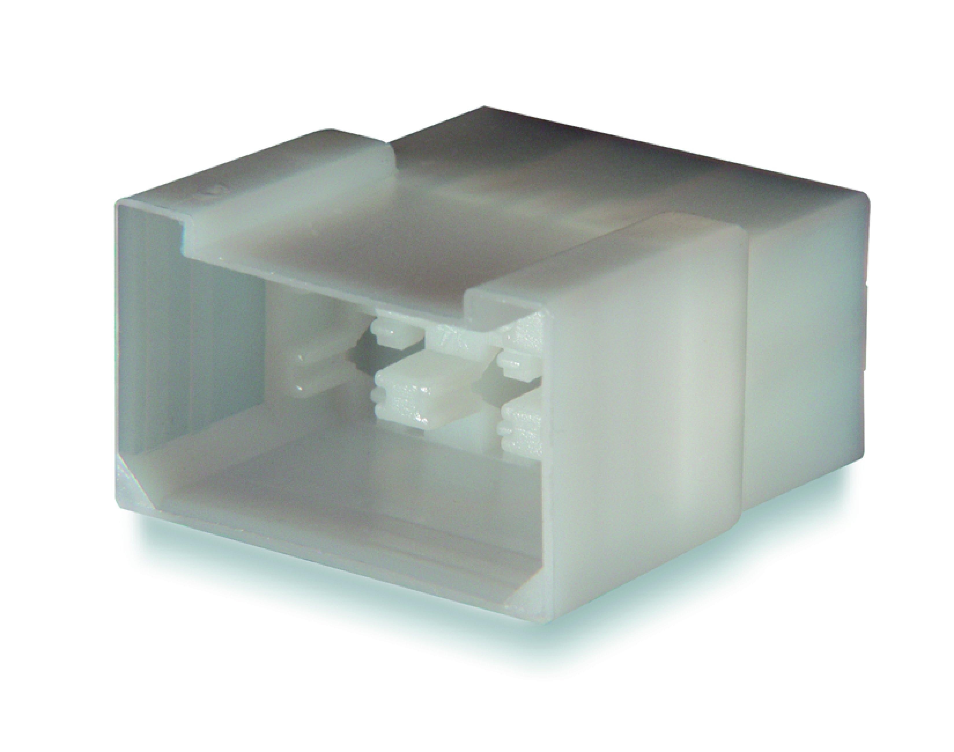 Stiftisolator 6-polig för flatstift 6,3mm