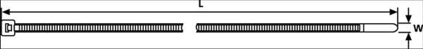Buntband Vita 380x7,6mm - 100st