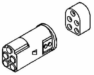 Coni hylsisolator 2-pol. IP64