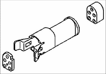 Coni stiftisolator 2-pol. IP64