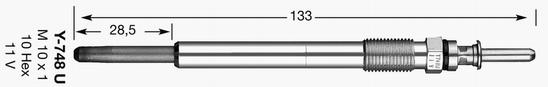 Glödstift Y748U
