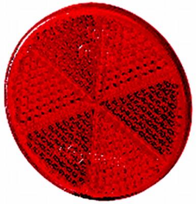 Reflex röd 60mm Ø självhäftande