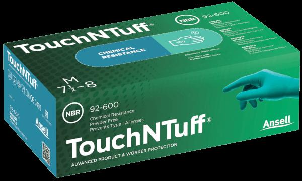 Pudrad korttidshandske TouchNTuff 92-500 - Stl 10