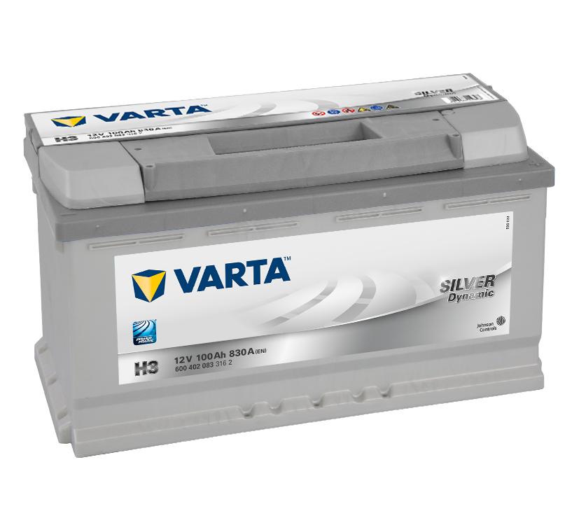 Bilbatteri Silver Dynamic H3 - 100Ah