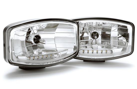Extraljus Jumbo 320 Xenon med LED posljus 12V