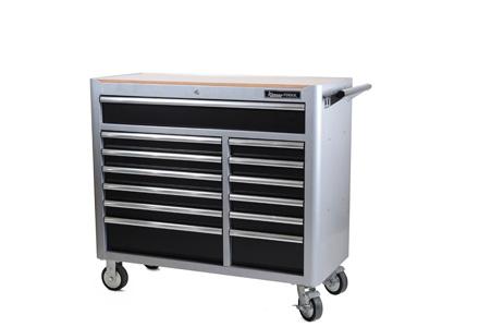 Grå verktygsvagn, 13 lådor - Tom, utan verktyg