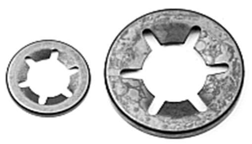 Låsring rund för axel 4 mm, 50st