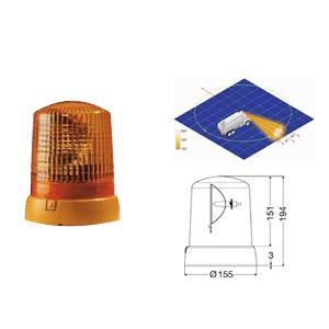 Varningsfyr 12V KL 7000 F - Orange
