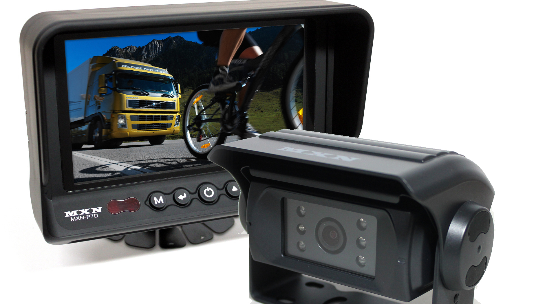 """Backkamerasystem 7"""" med kamera"""