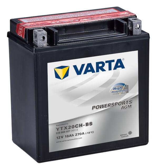 Batteri MC YTX20CH-BS AGM HP - 18Ah