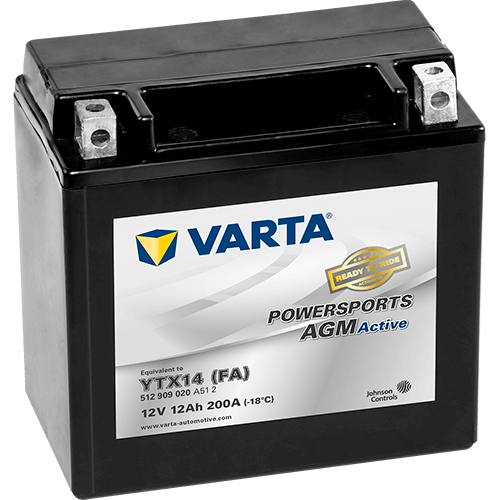 Batteri MC YTX14 (FA) AGM - 12Ah